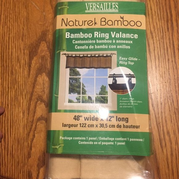 """Versailles Other - Bamboo Ring Valance 48""""x12"""""""
